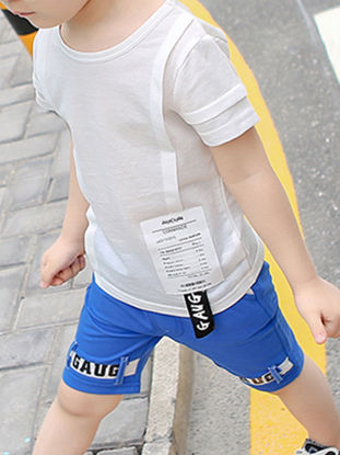 Picture of Boy's 2 Pcs Set Short Sleeve Casual Style Fashion Short Set
