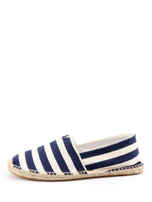 Picture of Women's Slip-Ons Cozy Striped Breathable All Match Casual Slip-Ons