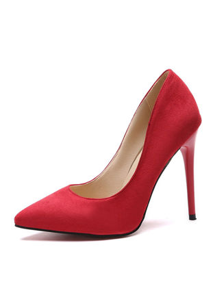 Picture of Women's High Heel Pumps Solid Color Fashion Pointed Toe Shoes