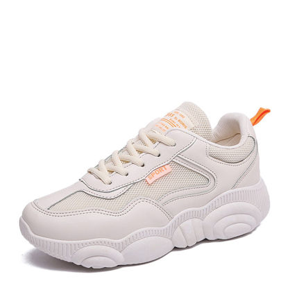 Picture of Women's Sports Shoes Thick Sole Breathable Wearable Lacing Design Shoes