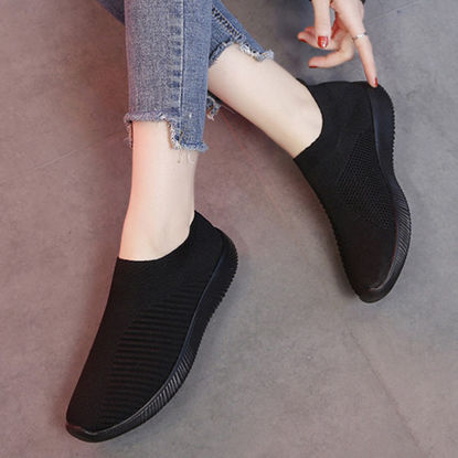 Picture of Women's Sports Shoes Knitting Comfy Deodorant Shoes