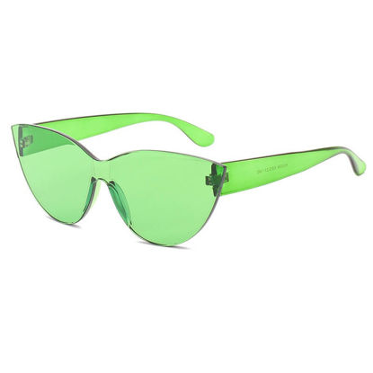 Picture of Women's Sunglasses Rimless Candy Color Faddish Eyewear Accessory