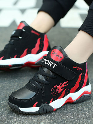 Picture of Kid's Athletic Shoes Color Block Comfortable Breathable Fashion Basketball Shoes