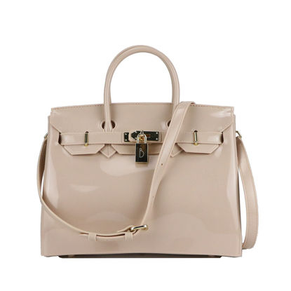 Picture of Women's PVC Handbag Candy Color Stylish Jelly Beach Bag