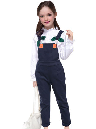 Picture of Girl's 2Pcs Set Casual Long Sleeve Trendy Shirt Pants Set