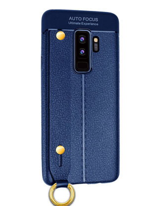 Picture of Samsung Series Phone Case With Wrist Belt Litchi Grain Business Full Protection Cover