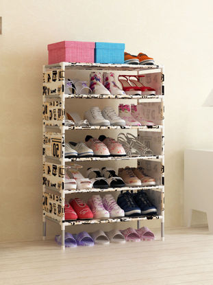 Picture of Shoes Organization Rack Creative Fresh Style Six Layers Dustproof Shelf