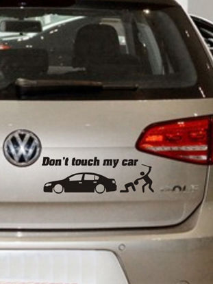 Picture of Car Decorative Sticker Reflective Don't Touch My Car Funny Creative Warning Car Stickers