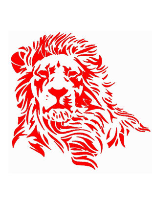 Picture of Car Sticker Personality Lion Pattern Reflective Material Exquisite Durable Car Sticker