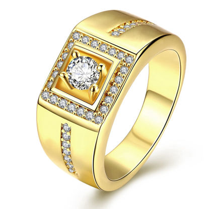 Picture of Men's Ring Rhinestone Inlay Fashion Ring Accessory