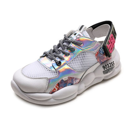 Picture of Women's Sports Shoes Color Block Deodorant Damping Shoes