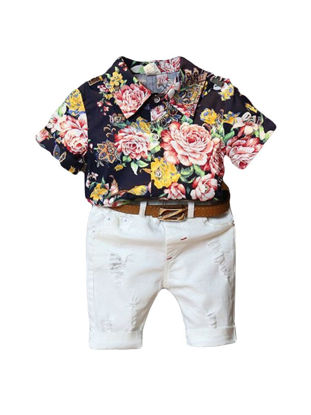 Picture of Floral Shirt Boys' Fifth Pants Set without Belt
