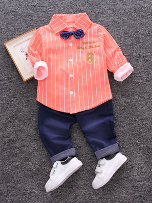 Picture of Baby Boy's 2 Pcs Set Shirt + Pants Fashion Outfits