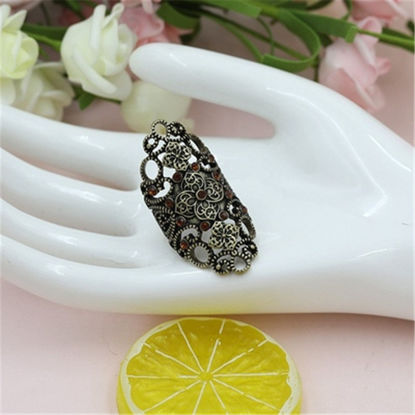Picture of Women's Fashion Ring Retro Hollow Out Design Stylish Ring Accessory