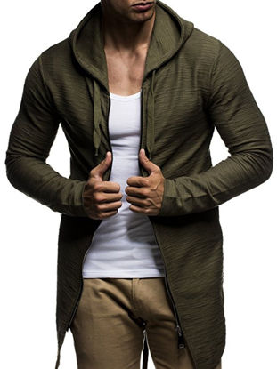 Picture of Men's Hoodie Classic Cardigan Comfy Outdoor Plus Size Breathable Patchwork Top