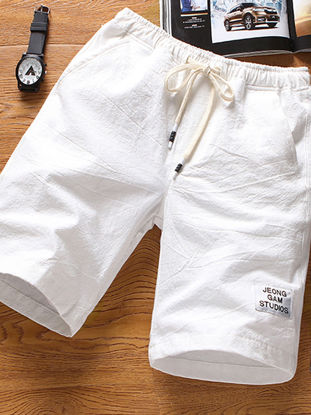 Picture of Men's Casual Shorts Solid Color Sport Light Drawstring Short Pants