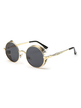 Picture of Men's Sunglasses Round Shape Retro Faddish Polarized Glasses Accessory