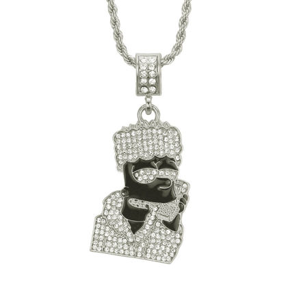 Picture of Men's Necklace Cartoon Figure Design Rhinestone Inlay Necklace Accessory