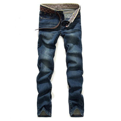 Picture of 087 large size fat pants men's fashion straight denim trousers for labor pants