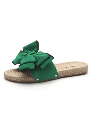 Picture of Home Slippers Bow Decoration Sweet Adorable Comfortable Slippers