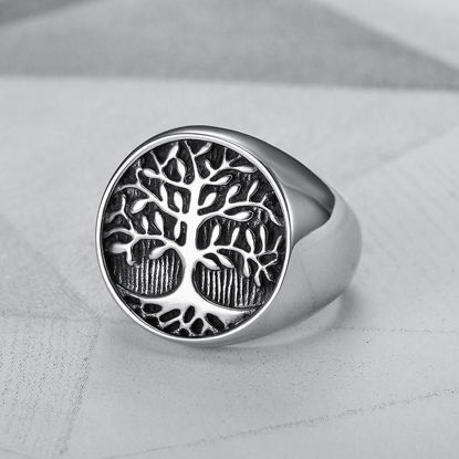 Picture of Men's Ring Retro Tree Pattern Ring Accessory