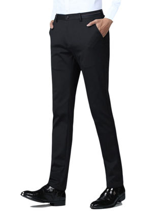 Picture of Men's Casual Pants Solid Color Button Full Length Pants