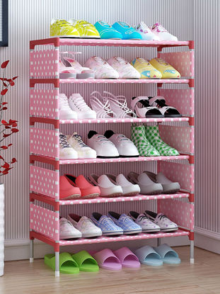 Picture of Simple Style Multi-Layer Shoes Rack Multi-Functional Home Dorm Books Sundries Organizer