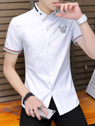 Picture of Men's Shirt Short Sleeve Slim Casual Top