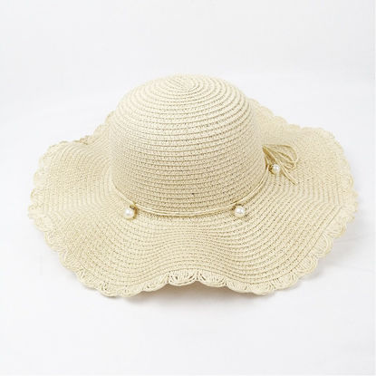 Picture of Women's Sun Hat Solid Color Elegant Breathable Hat Accessory