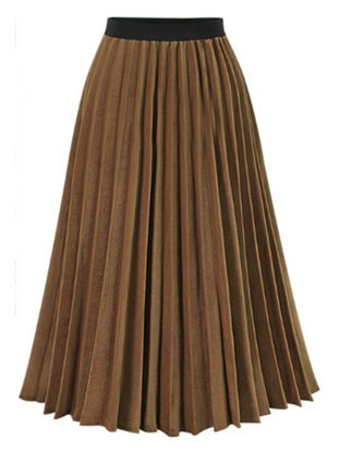 Picture of Women's Pleated Skirt Patchwork Chiffon Skirt