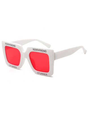 Picture of Women's Sunglasses Full Rim Square Shape Letter Pattern Glasses Accessory