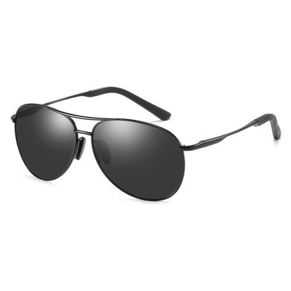 Picture of ZORAVIA Men's Sunglasses Classic Outdoor Polarized Light Metal Frame Sunglasses Accessory