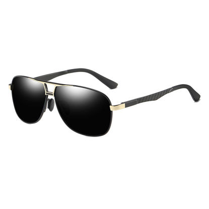 Picture of Men's Sunglasses Anti-glare Square Frame Polarizing Eyewear