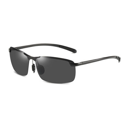 Picture of Men's Sunglasses UV Protection Half Frame Polarizing Eyewear