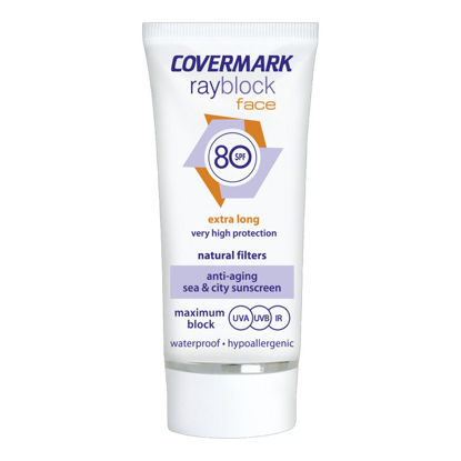 Picture of covermark ray block face 80 spf واقي شمس SPF 80 لون بيج