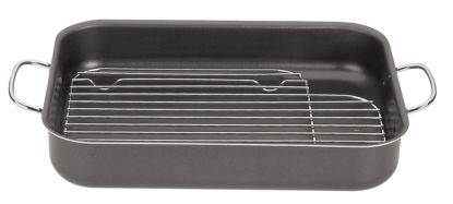 Picture of 34 CM ROASTING PAN WITH GRILL BRASI