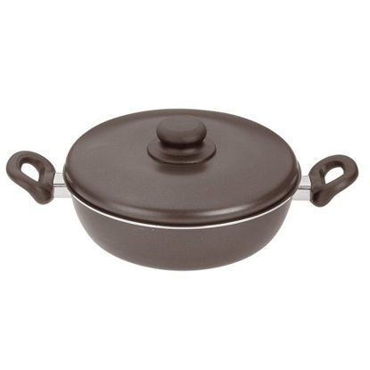 Picture of  frying pan has two deep hands