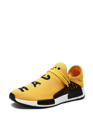 صورة Men's Sports Fashion Shoes Letter Pattern Breathable Casual Shoes