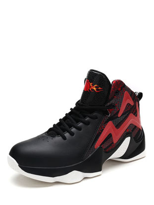 Picture of Men's Sports Fashion Shoes Patchwork Color Block Faddish Basketball Shoes