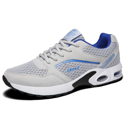 Picture of Men's Running Shoes Damping Low Top Lacing Breathable Comfy Sports Shoes