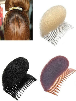 صورة 3 Pcs Women's Hair Clip Simple Style Sponge Bomb Hair Accessory
