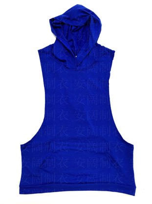 Picture of Deep excavation bodybuilding hooded vest vest tide men's hooded gym vest