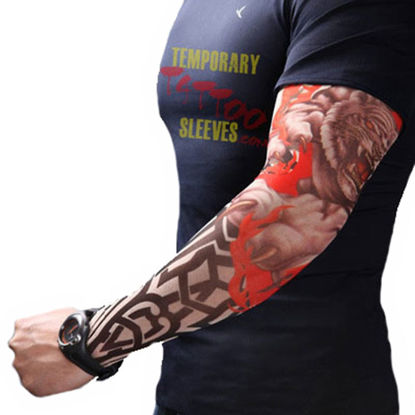 Picture of 1 Pc Men's Sun-Proof Arm Sleeve Print Comfy Breathable Thin Outdoor Sports Oversleeve