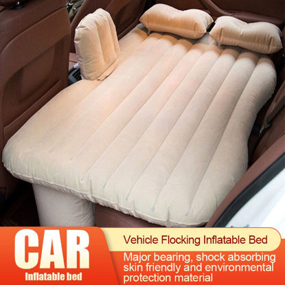Picture of Car Air Bed Flocking Comfy Skin-Friendly Soft Shock Absorption Inflatable Bed