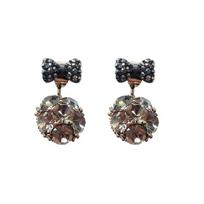 Picture of Women's Stud Earrings Bow Decor Ladylike Earrings Accessory