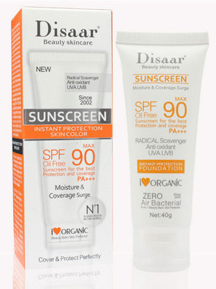 صورة Disaar SPF 90 Sunscreen Moisturizing Whitening Cream Whitening Sunblock Sunscreen Cream UVA UVB Oil-