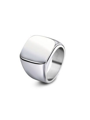 Picture of Men's Glossy Titanium Ring Simple Retro Ring Male Jewelry