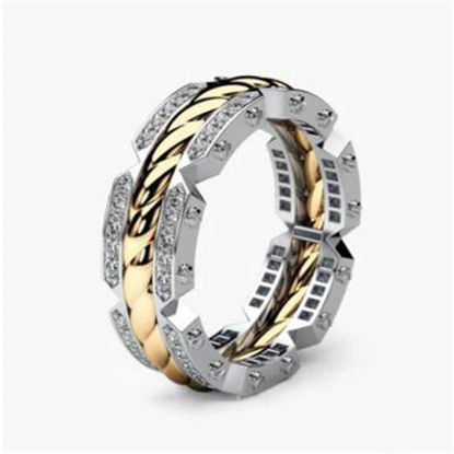 Picture of Men's Ring Exquisite Patchwork Fashion Ring Accessory