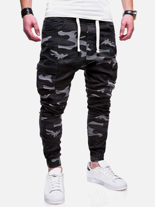 Picture of Men's Causal Pants Camouflage Pockets Breathable Sports Slim Pants