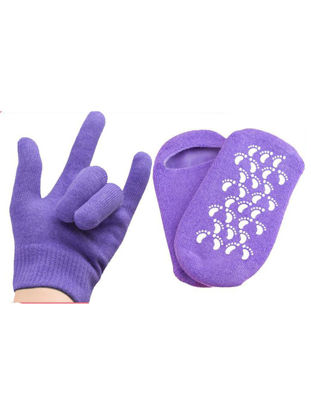 Picture of 2 Pirs SPA Gel Moisturizing Socks Gloves Set Reusable Silicone SPA Gloves